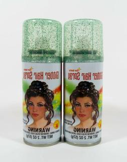 2 cans Rubies Glitter Hair Spray costume company GREEN GLITT