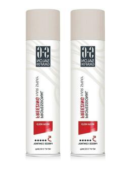 2 Salon Grafix Freezing Hair Spray 10 oz Each Mega Hold Hair