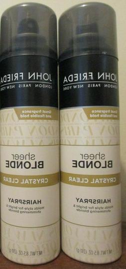 John Frieda Sheer Blond Crystal Clear Hairspray 8.5 oz DISC
