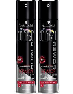 2 x Schwarzkopf Professional Taft Power Lacquer 48 hour Hair