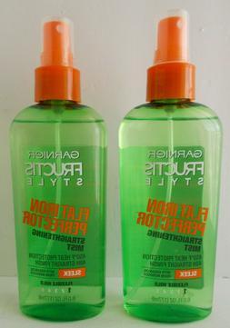 2X Garnier Flat Iron Perfector Sleek Hair Spray Straightenin