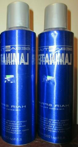 2x SEBASTIAN LAMINATES Hair Spray Thermal Shine Styler 8.5 o
