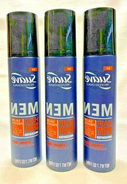 3 Suave Men Hair Spray Unscented Strong Hold 7 Oz