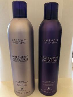 Alterna Caviar Extra Hold Hair Spray 12.0 Oz & Working Hair