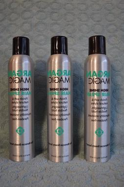 ARGAN MAGIC HIGH SHINE HAIR SPRAY x 3 ..... 10 oz each