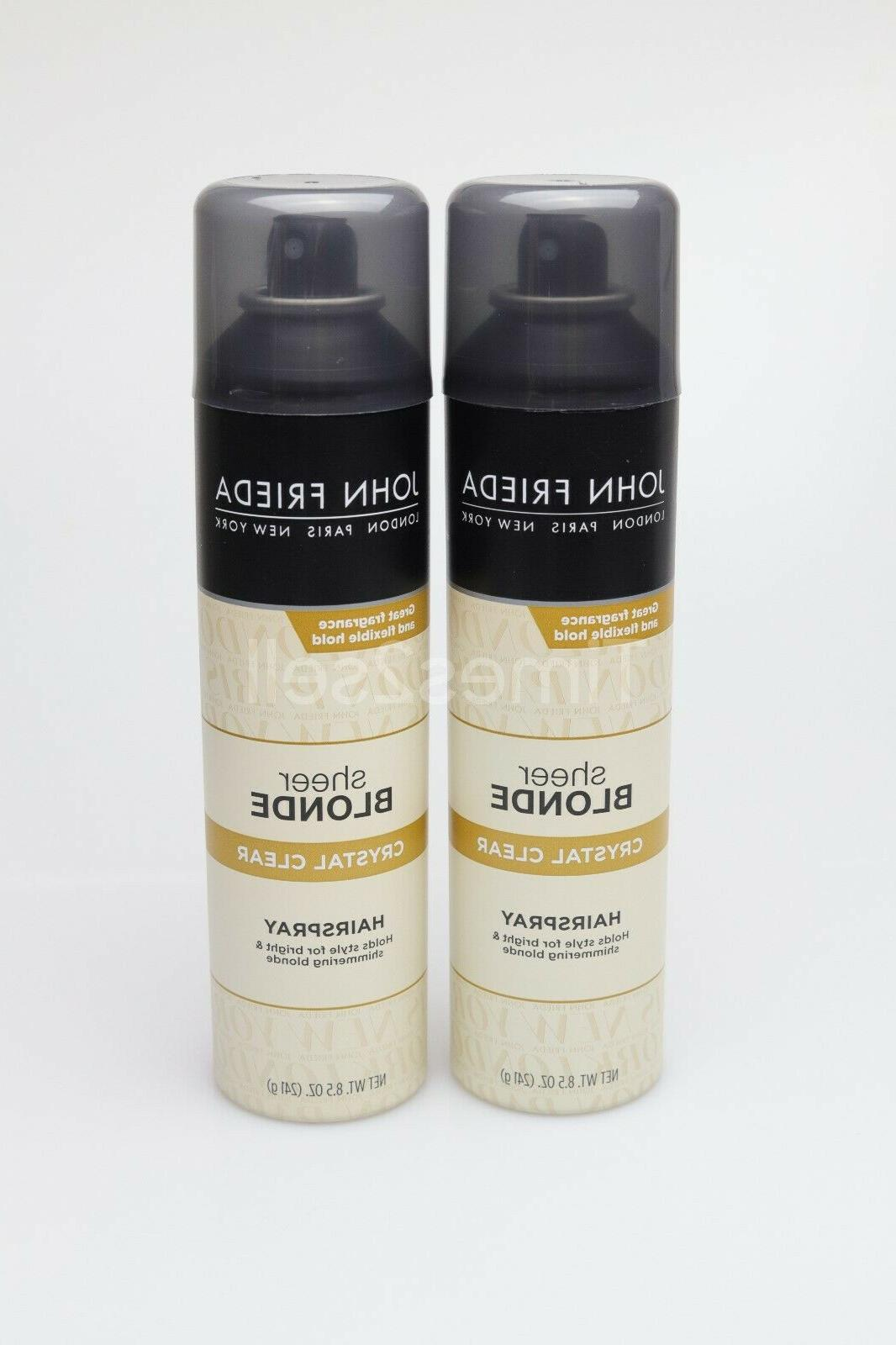 2 pack sheer blonde crystal clear hairspray