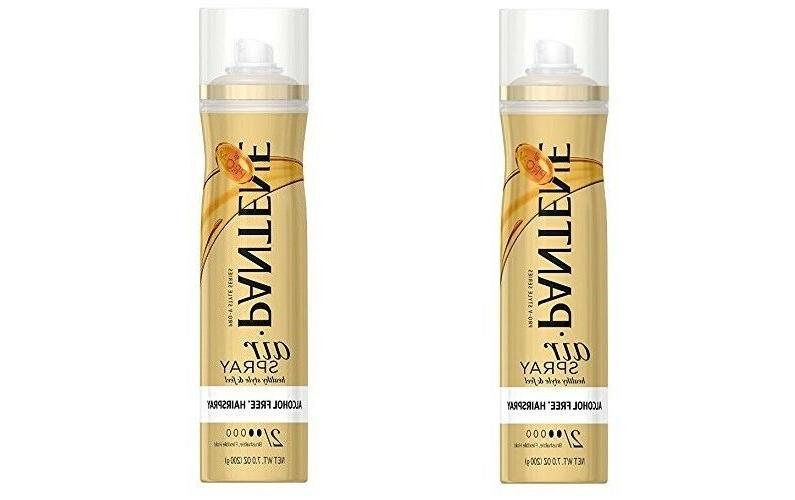 2 Pantene Pro-V Style Series Air Spray Alcohol Free Hair Spr
