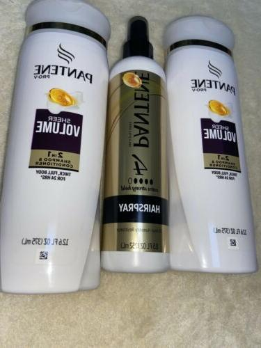 Pantene Shampoo Conditioner & Hairspray Bundle