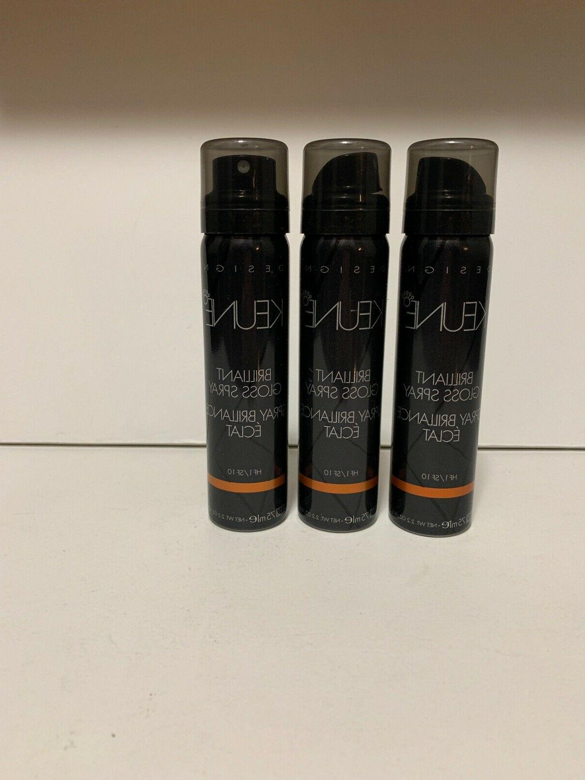 3 Keune Gloss Spray 2.2oz TAVEL