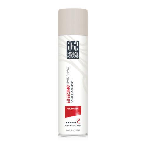 Salon Grafix Mega Hold Professional Freezing Hair Spray, 10