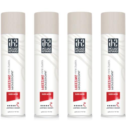 4 pack professional freezing hair spray mega