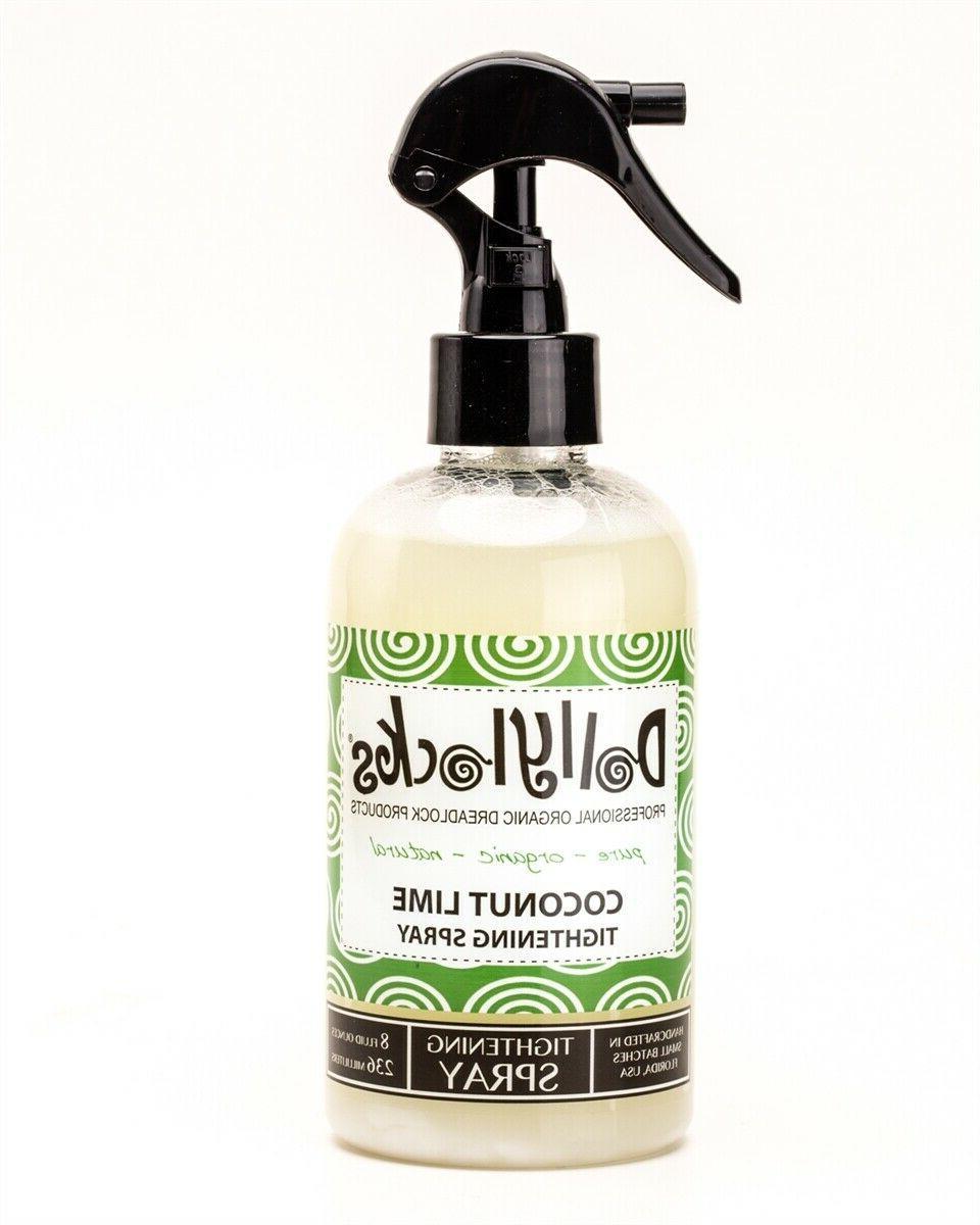 8oz coconut lime dreadlock tightening spray from