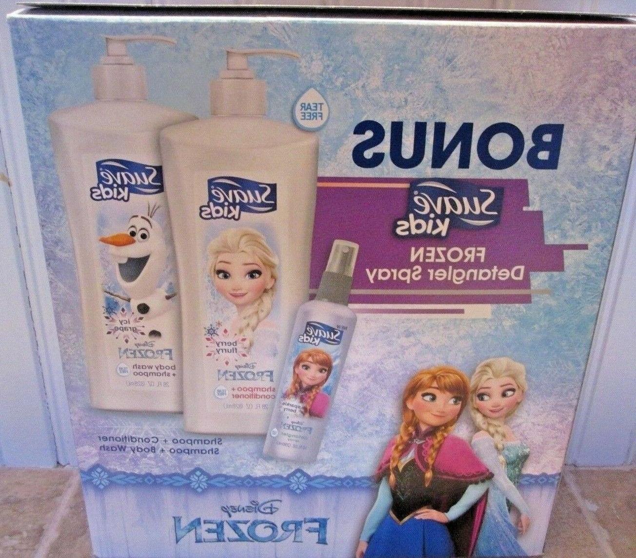 Suave Kids Gift Set Disney Frozen Body Wash Shampoo Conditio