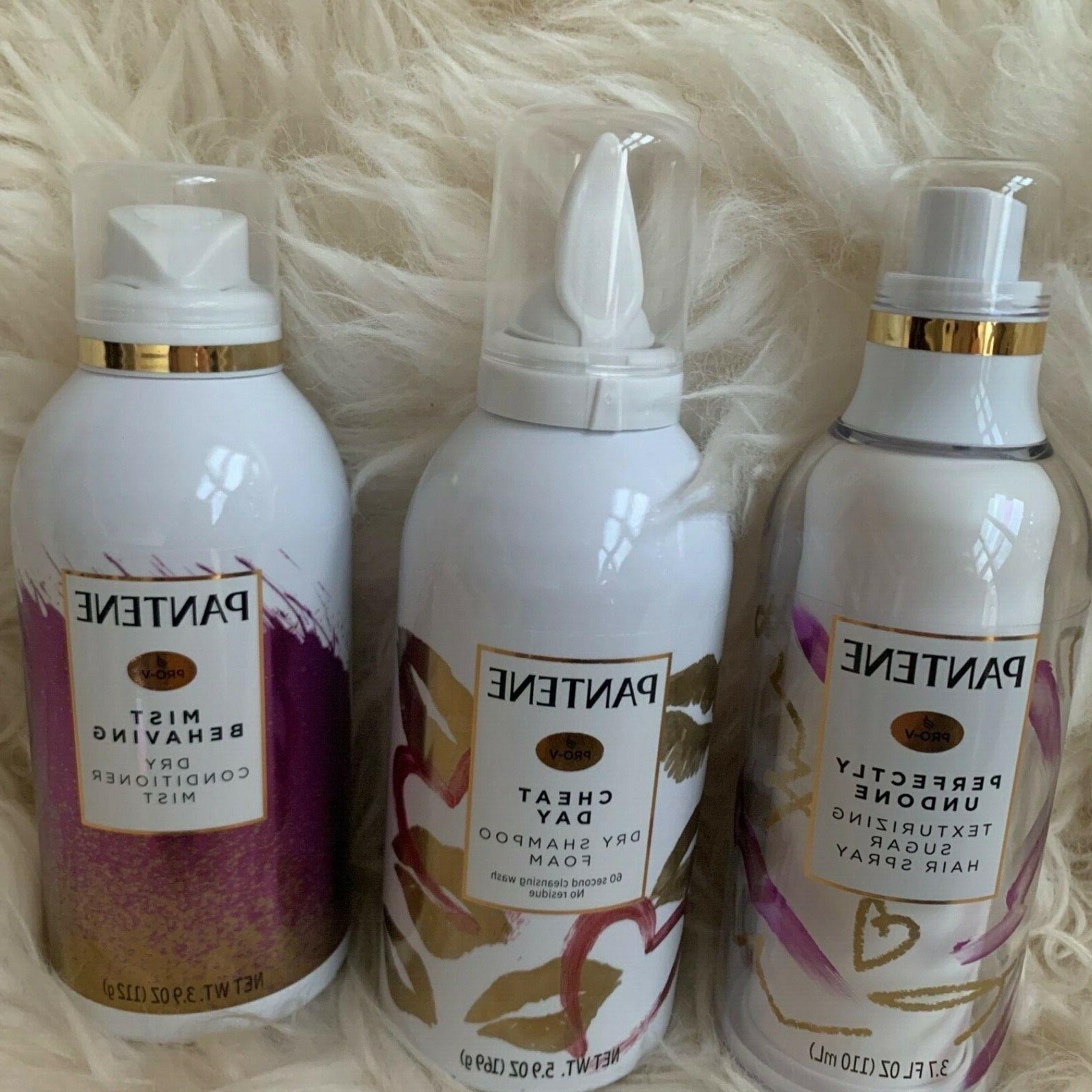 Pantene Shampoo Dry Conditioner Mist Sugar Hair Waterless