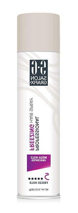Salon Grafix Freezing Hair Spray, Mega Hold Unscented, 10 Oz