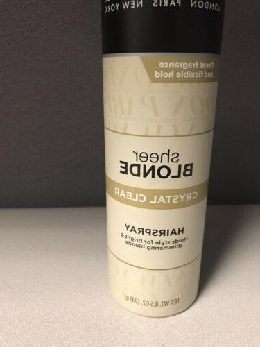 HTF John Sheer Blonde Clear Hairspray oz