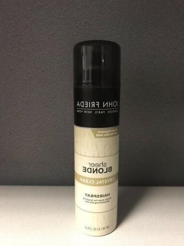 htf new sheer blonde crystal clear hairspray