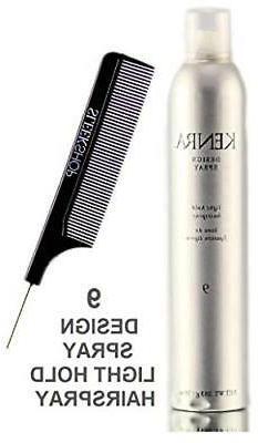 Kenra DESIGN SPRAY 9, Light Hold Hairspray w/ Sleek Pin COMB