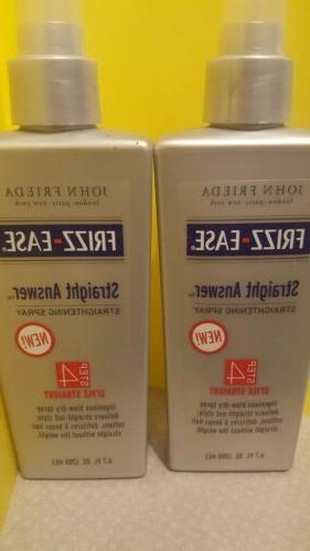 LOT Of 2 FRIEDA FRIZZ EASE STRAIGHT ANSWER 6.7 oz