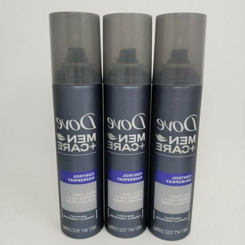 lot of 3 cans men care control