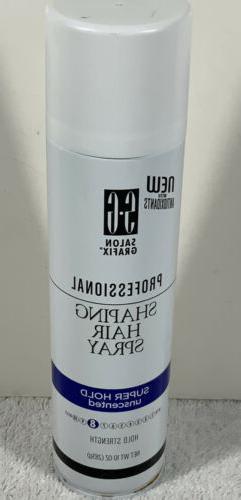 New!! Salon Grafix Professional Shaping Hair Spray Super Hol