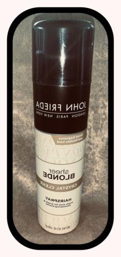 NEW -John Frieda Sheer Blonde Crystal Clear Hair Spray 8.5 o