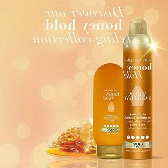 OGX ,Honey Hold Mega Ounce Bottle, Hair Extra.