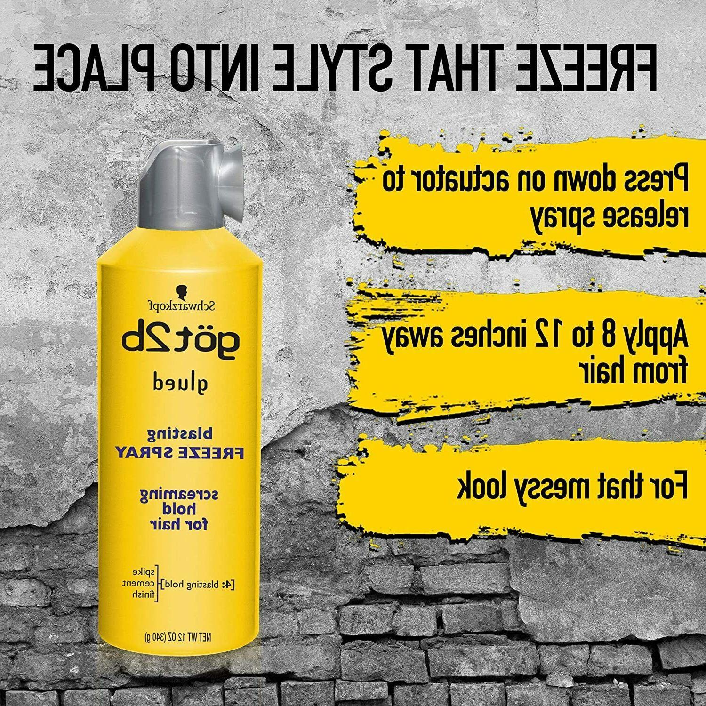 Schwarzkopf Got2b Glued Freeze Hairspray 12 Ounce Hair Holding Spray
