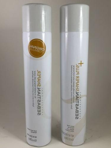 shaper original hair spray and shaper plus