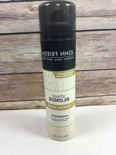 sheer blond crystal clear hairspray 8 5