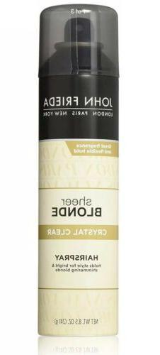 John Frieda Sheer Blonde Crystal Clear Hairspray 8.5 Oz Bott