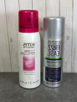 Lot Of 2 Frizz Ease Keraflex Hairspray ~ 2 oz & KMS Hairstay
