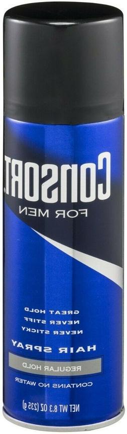 CONSORT For Men Hair Spray Regular Hold 8.3 oz Free Shipping