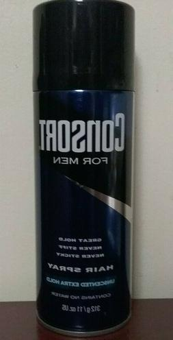 Consort For Men Hair Spray   Unscented   Extra Hold   11oz