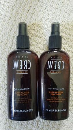 AMERICAN CREW Men MEDIUM HOLD Hair SPRAY GEL  8.45 oz  NEW