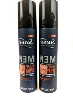 Suave Men Strong Hold Unscented Hair Spray, 7 oz each. Two b