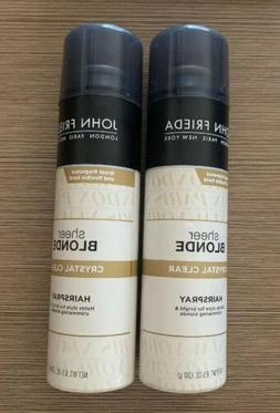 NEW 2 Pack John Frieda Sheer Blonde Crystal Clear HairSpray