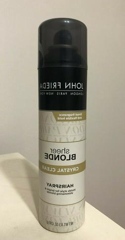 NEW HTF-John Frieda Sheer Blonde Crystal Clear Hair Spray 8.