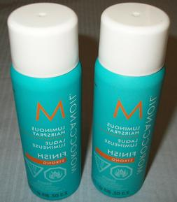 Pack Lot Of 2 Moroccanoil Luminous Hairspray Finish Strong 2