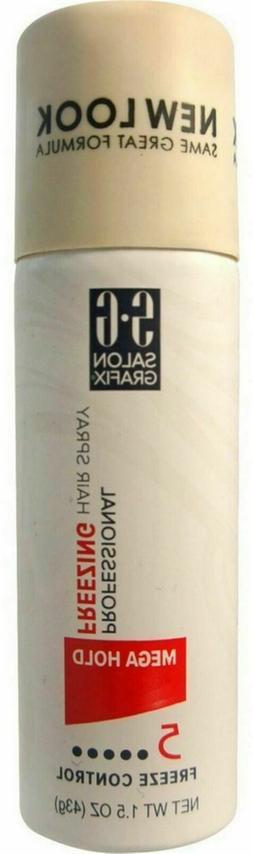 Salon Grafix Professional Freezing Hair Spray, Mega Hold, Fr