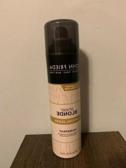John Frieda Sheer Blond Crystal Clear Hairspray 8.5 oz DISCO