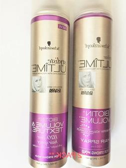 Schwarzkopf Styliste Ultime Biotin Volume Hair Spray.  **Lot